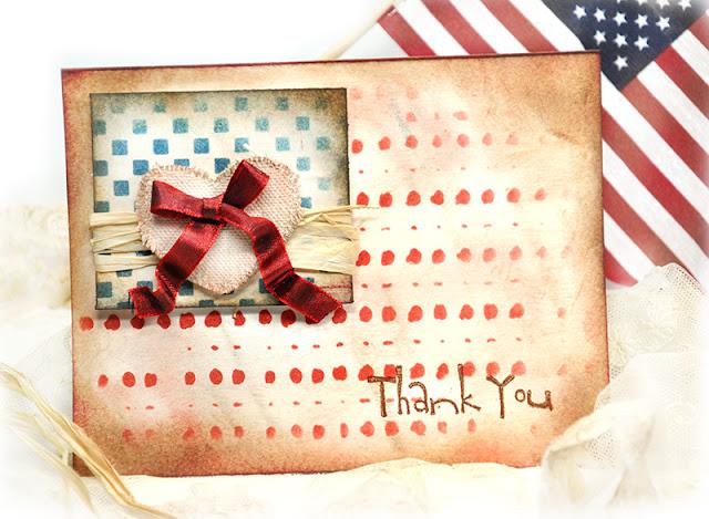 Americana Stenciled Card