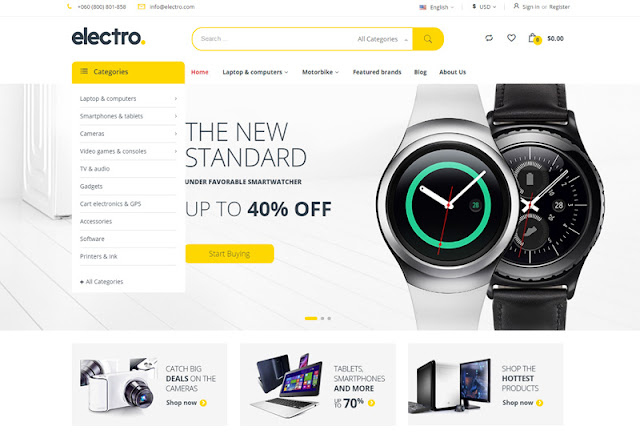 Electro Electronics WordPress Store Theme Download