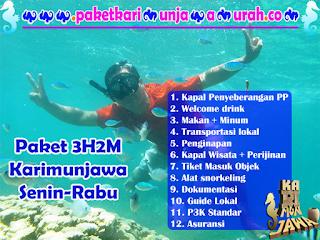 brosur paket wisata 3h2m Karimunjawa Rabu-Jumat