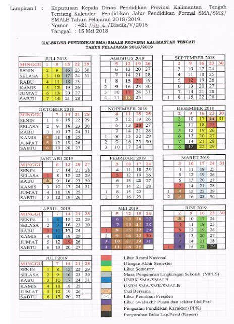 Kalender Pendidikan 2019/2020 Banten Excel : kalender, pendidikan, 2019/2020, banten, excel, Download, Kalender, Pendidikan, 2018/2019, Kalimantan, Tengah, Excel