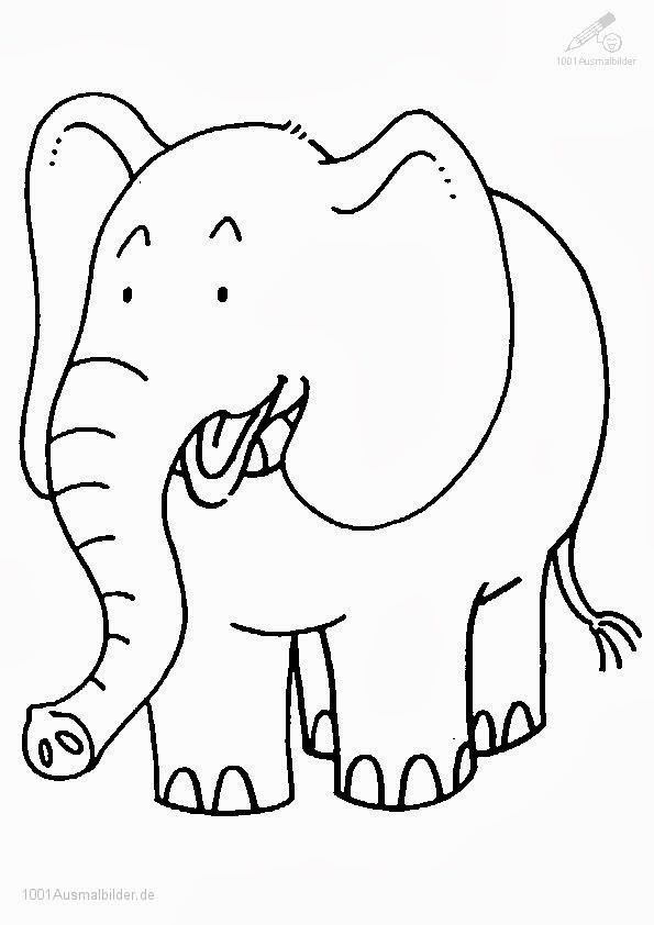elefanten bilder zum ausmalen