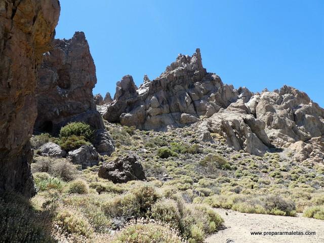 formaciones rocosas en el Teide