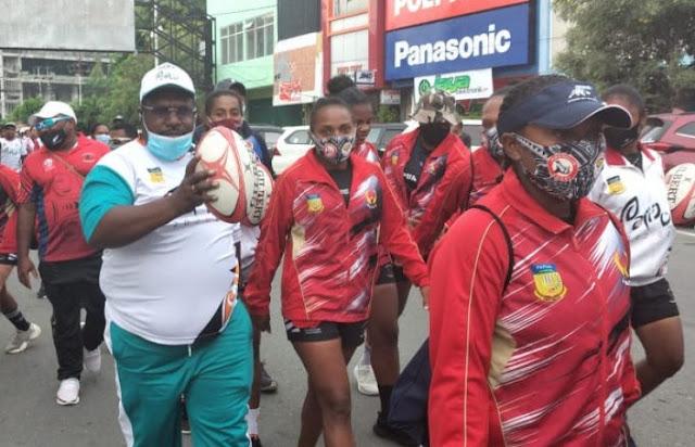Kenius Kogoya dan Pengurus KONI Papua Ikuti Hari Olahraga Nasional (Haornas) 2020