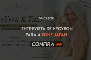 ENTREVISTA DE HYOYEON PARA A SONE JAPAN