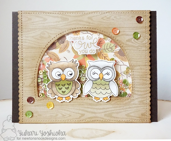 Thanks for Owl You Do Card by Yukari Yoshioka | What a Hoot Stamp Set by Newton's Nook Designs #newtonsnook