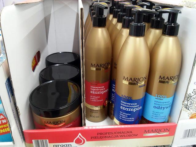 kosmetyki z Biedronki - szampon i maska do włosów Marion