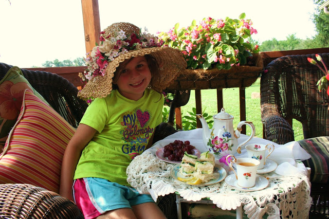 Grand daughter Tea party