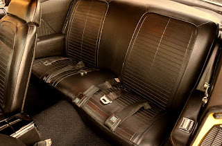 1969 Pontiac Firebird Sport Coupe Seat Rear