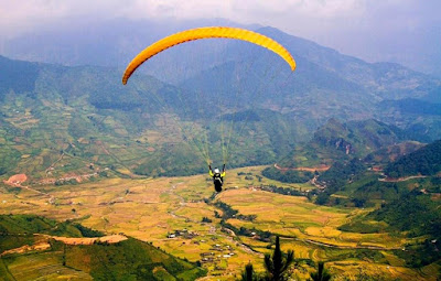 Mu Cang Chai district destined for paragliding festival