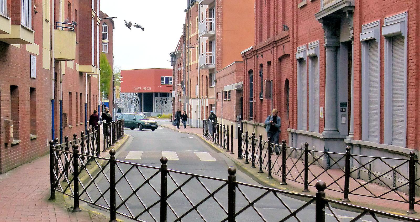 Rue des Anges au niveau de l'école CNDI