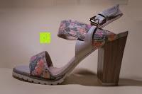 Erfahrungsbericht: Alexis Leroy Blockabsatz Blume gedruckt Damen Offene Sandalen mit Keilabsatz