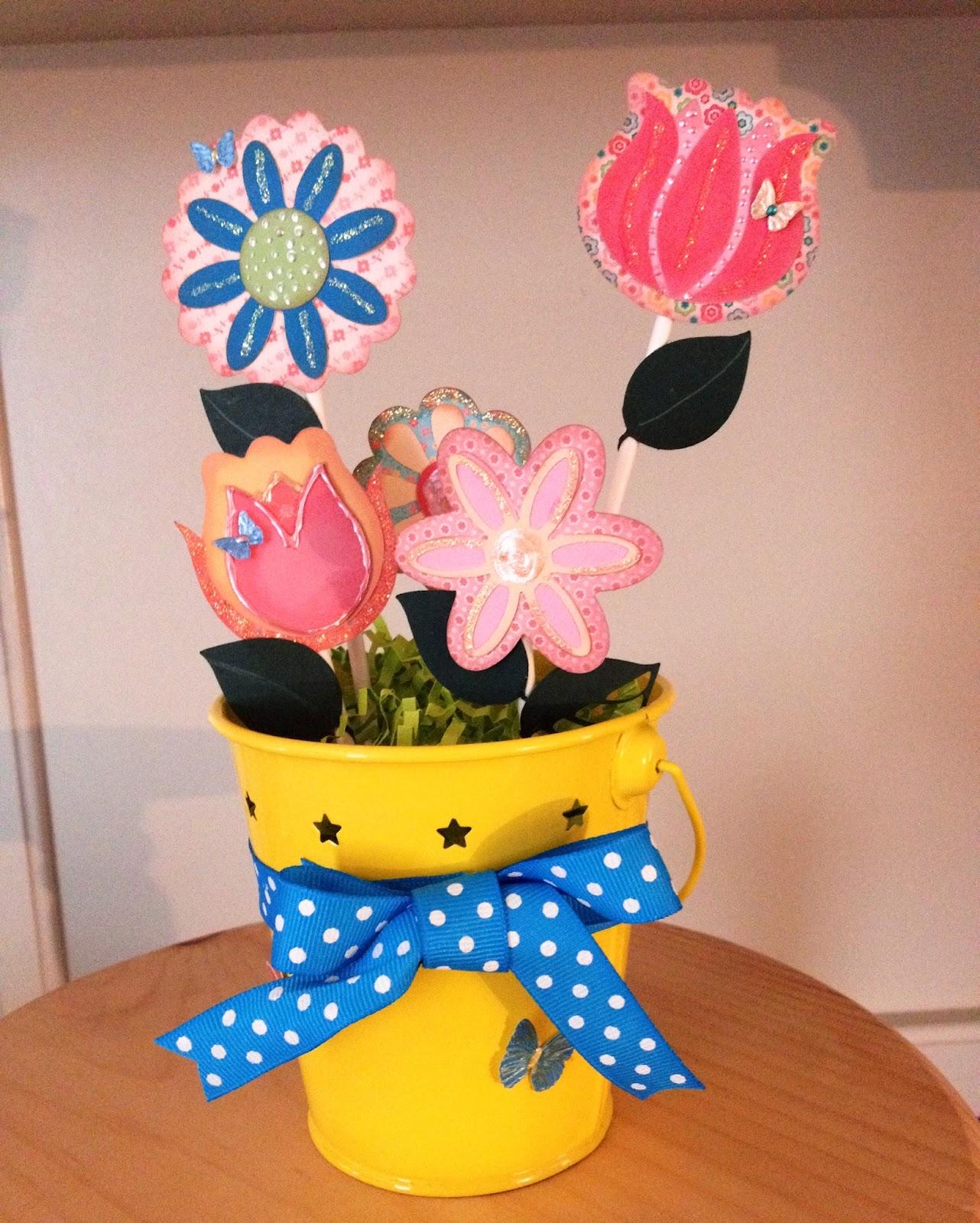 marilyn's crafts  flower pot