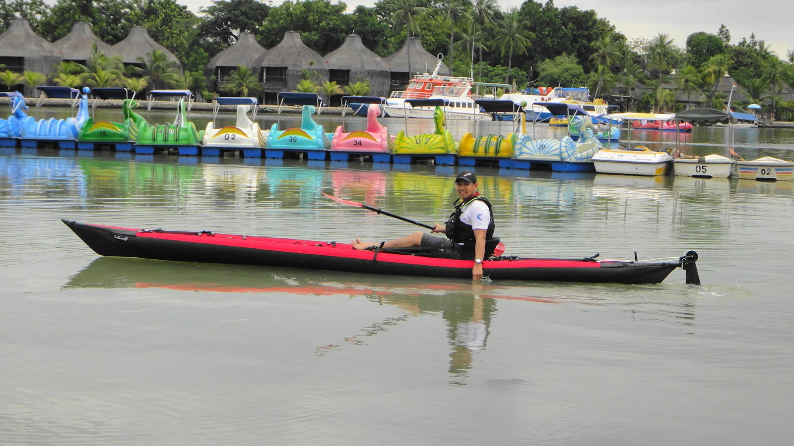 A Lonely Sea Kayaker from Jakarta: The First Folding Sit-On