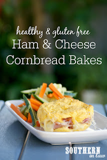 Healthy Ham and Cheese Cornrbread Bakes Recipe
