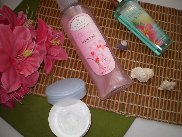 Oh So Heavenly Moisture Burst | ENJOY Fun in the Sun Body Wash | Bramley: Pink Blossom foam bath