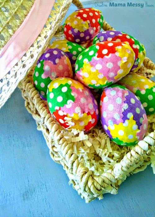 Decorate for Easter with these Patchwork Polka Dot Easter Eggs at the Spring Craft Blog Hop 2015