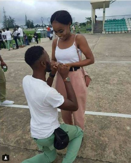 Corper Proposes To Girlfriend During NYSC Passing Out Parade