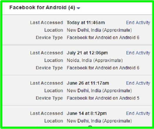 how to logout facebook remotely