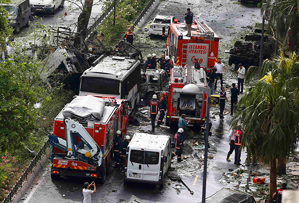 Erdogan acusa rebeldes curdos por atentado em Istambul