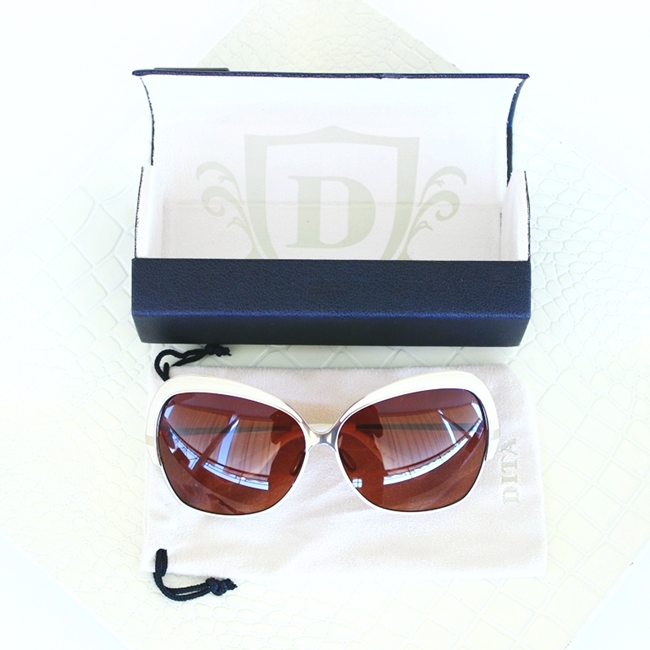 Dita Marseilles sunglasses with white frames