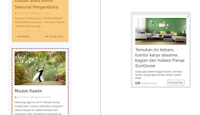 Memasang Iklan InFeed di Homepage Blog - Seloki