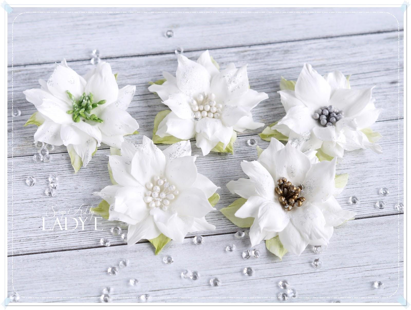 Simple Foamiran Poinsettia Flowers & Video Tutorial - Scrap Art by ...