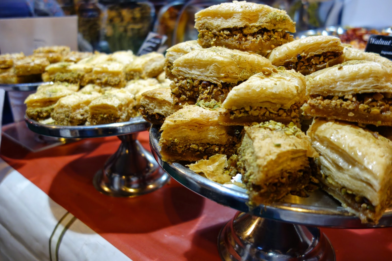 Savoury pastries on display at the Good Food Show Winter