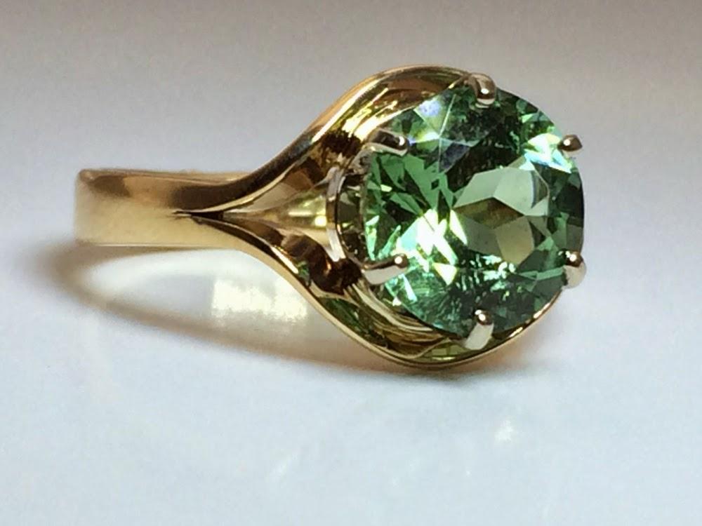Harvest Gold Jewelry Maine Tourmaline Rings