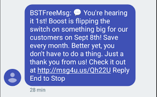 Boost Mobile Teaser text