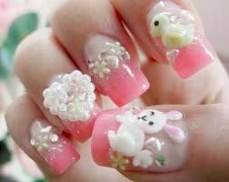 diseño de uñas muy tiernas con patitos y concejos