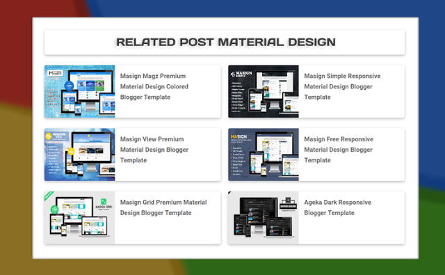 Related post material design Blogger