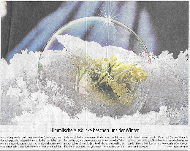 Winter,Seifenblase,Macrobild,Nahaufnahme Seifenblase