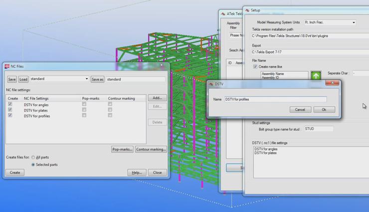 Экстракт геометрических данных DSTV из Tekla Structures