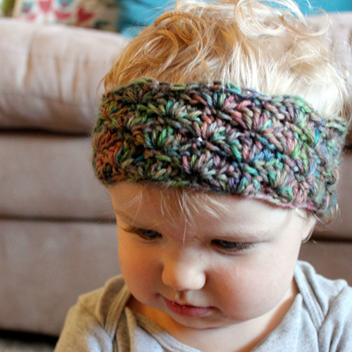 Simple Shells Toddler Headband - Free Pattern