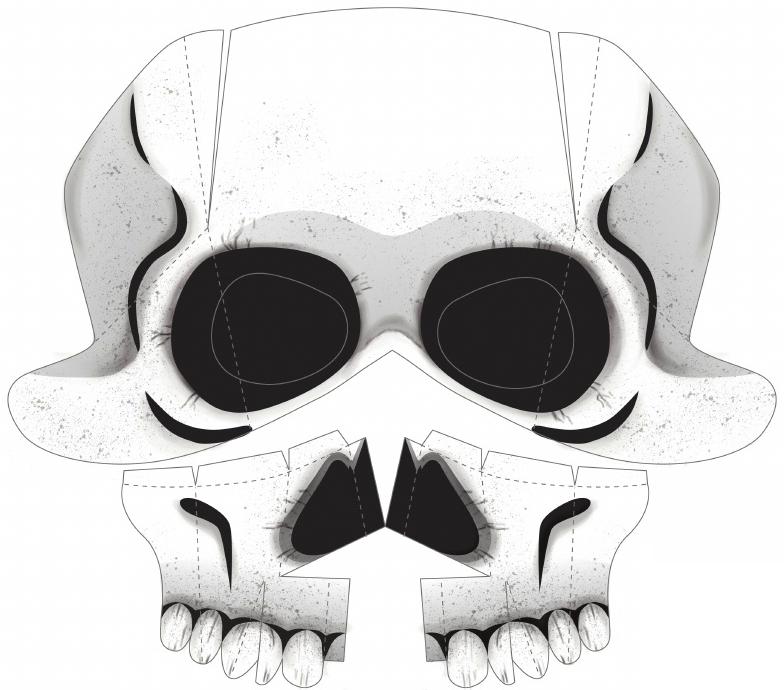 tumblr tipp diy cut and fold costumes skeleton schnell eine skelettmaske zu halloween. Black Bedroom Furniture Sets. Home Design Ideas
