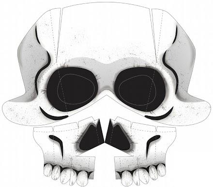 Schnell  noch eine Skelettmaske zu Halloween basteln   Last Minute DIY Skeleton