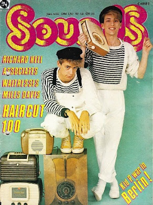 Haircut 100 on cover of Sounds magazine June 1982