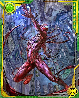 Collect your favorite symbiotes in the mobile digital trading card battle game Marvel War of Heroes