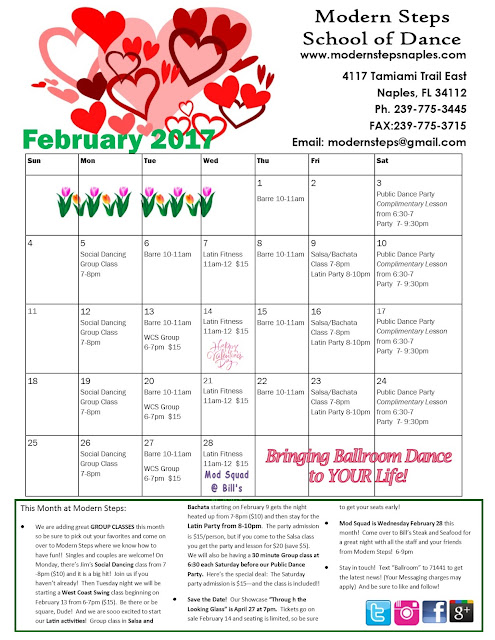 February Events at Modern Steps