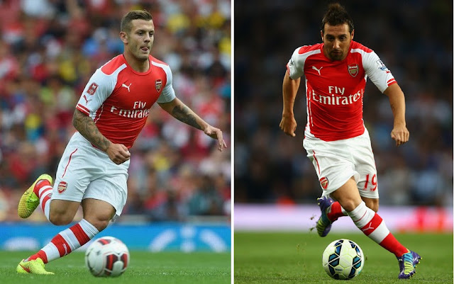 Arsenal Cazorla and Wilshere injury boost