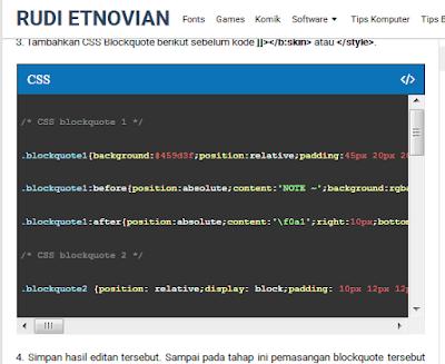Cara Membuat Syntax Highlighting Pada Blog