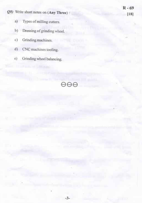 SU 43595 Machine Tools Dec 2014 Question Paper