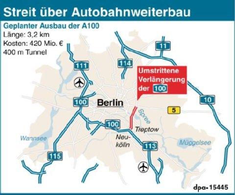 Deutschlandkarte Blog Landkarten Zur Autobahn 100 In Berlin