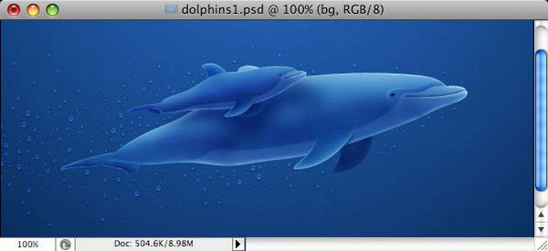 Photoshop Background Tutorials Making of Dolphins