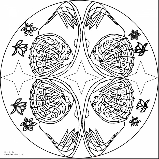 Marvelous Butterfly Mandala Coloring Pages For Adults With Free Printable Mandala  Coloring Pages And Free Printable