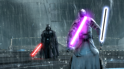 The final fight with Darth Vader in the Force Unleashed 2