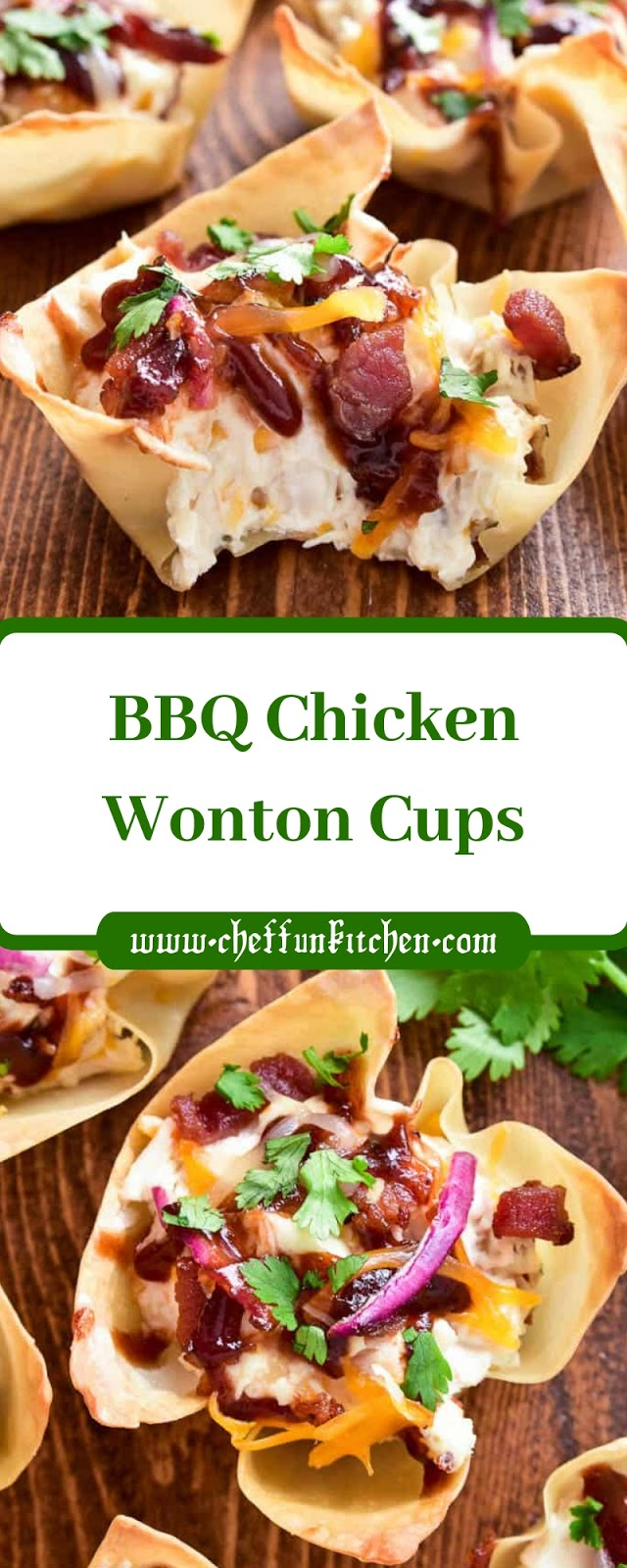 BBQ Chicken Wonton Cups