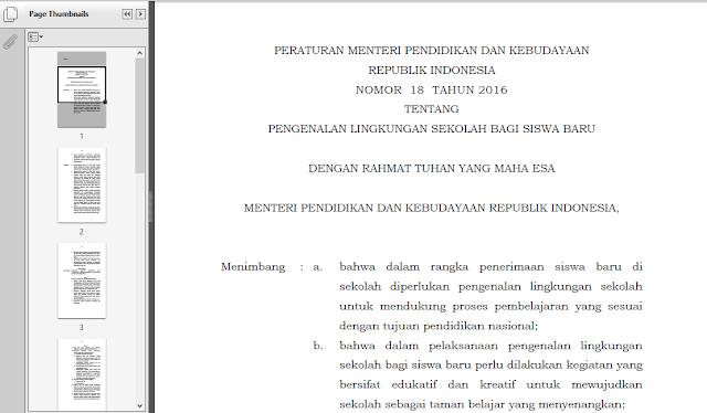 Pedoman Pelaksanaan MOS KEMDIKBUD Tahun Pelajaran 2016 - 2017