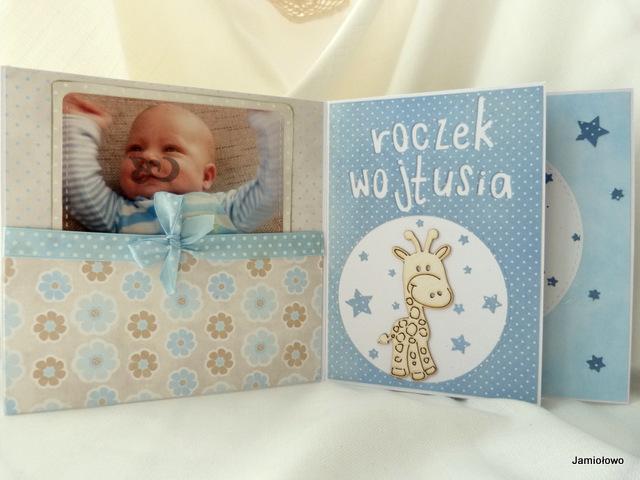 mini-albumik  na roczek chłopca
