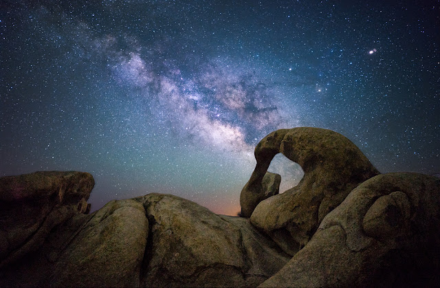 Milky Way Galaxy seen over Mobius Arch